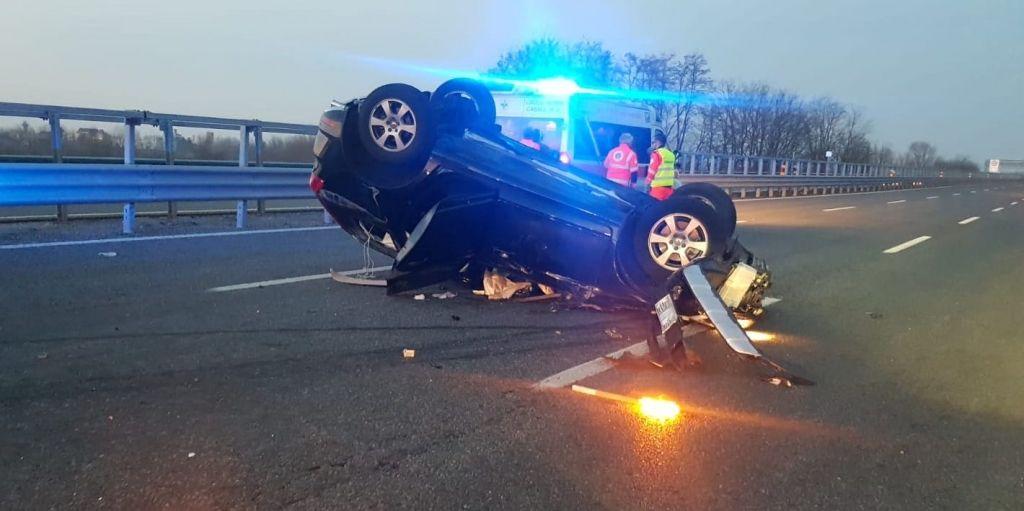 Incidente sulla A26 tra Casale Nord e svincolo per Santhià