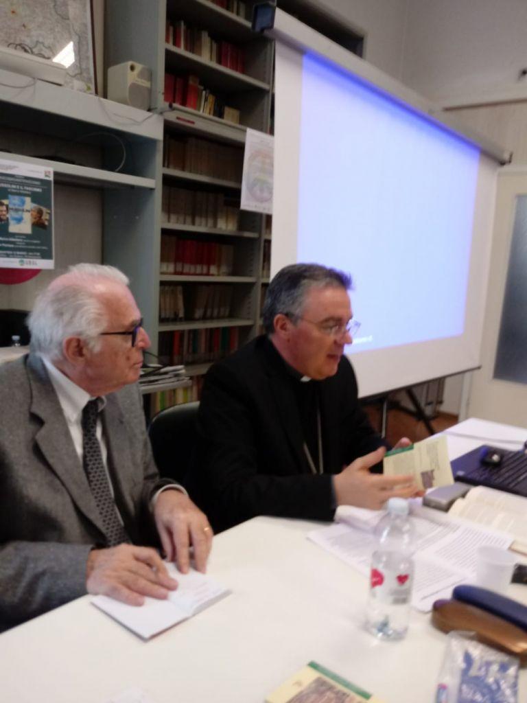 Il vescovo Sacchi all'isral